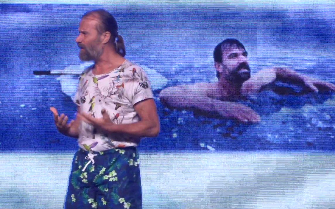 Wim Hof teaching at Longevity Now conference