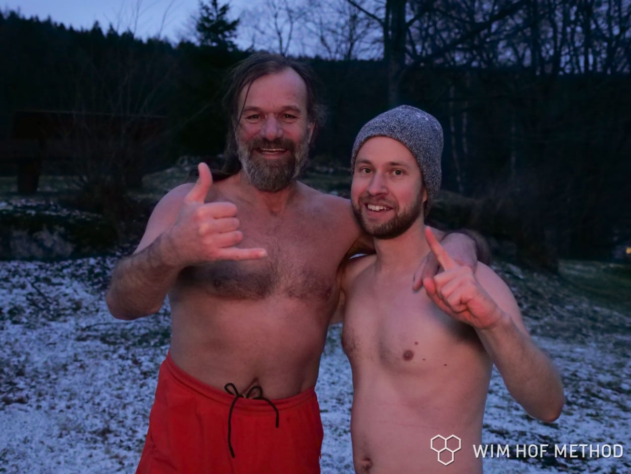 Wim Hof and friend