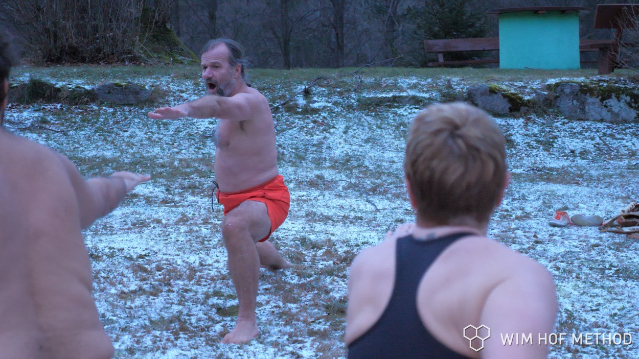 Wim Hof showing how it is done