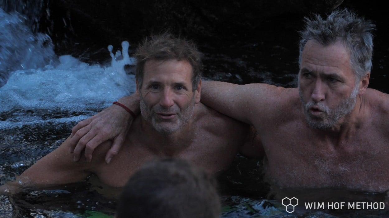 Wim Hoffers in icy water