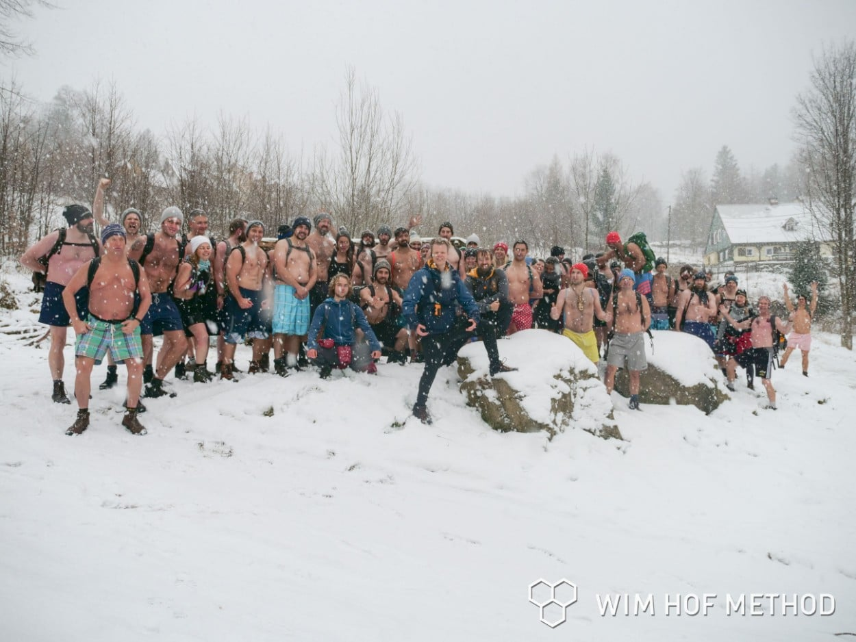 Wim Hof Winter Expedition group photo