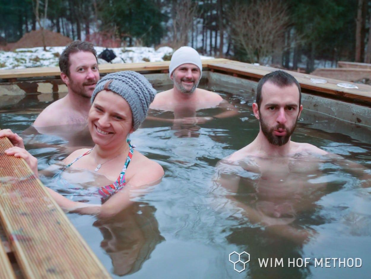 Ice bath in Poland