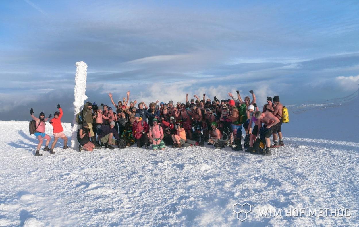 On top of Mt Sniezka