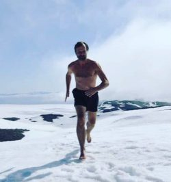 Wim Hof running in the arctic