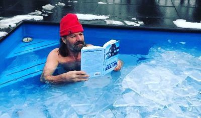 Wim Hof reading Scott Carney What Doesn't Kill Us